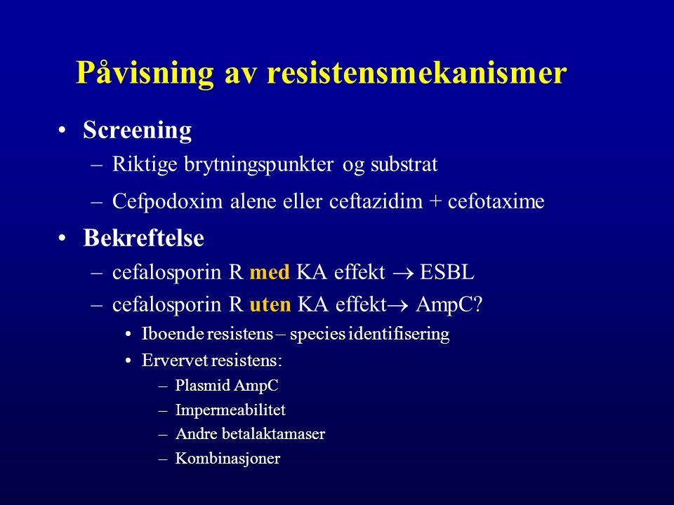 Påvisning av resistensmekanismer