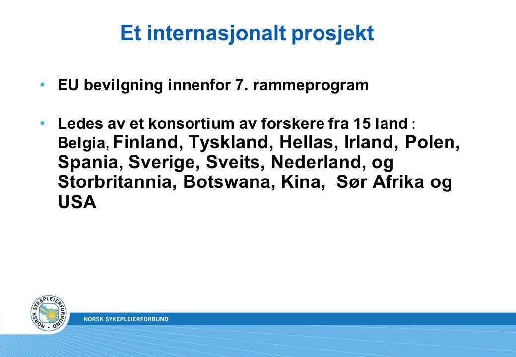 Et internasjonalt prosjekt