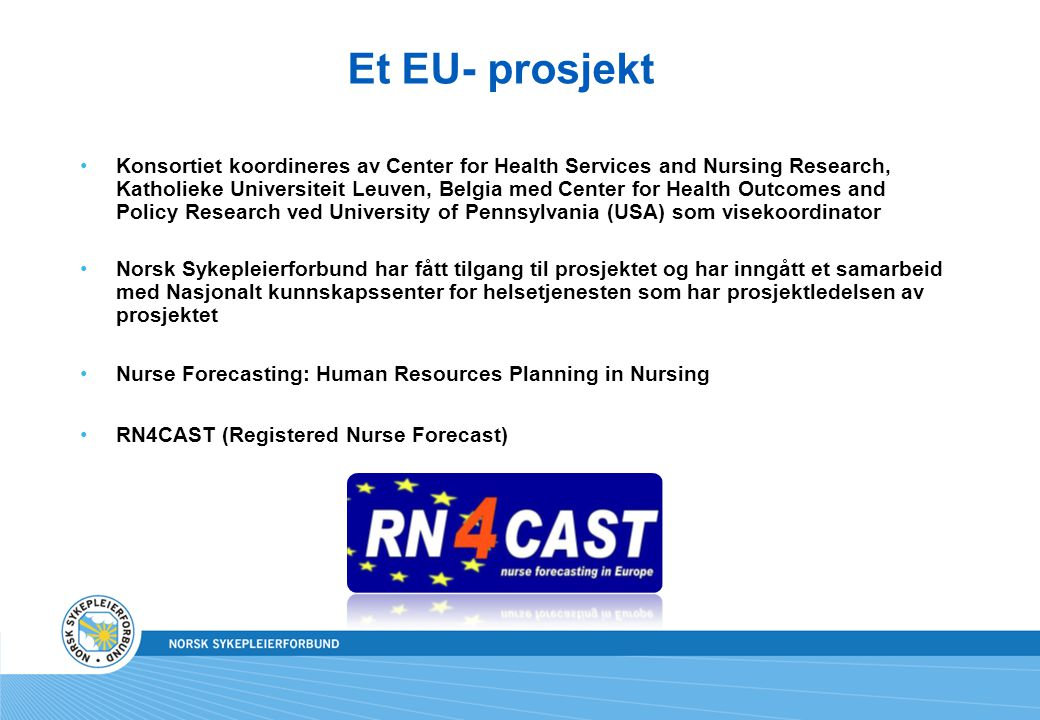 Et EU- prosjekt