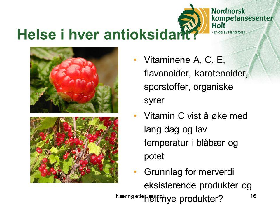 Helse i hver antioksidant