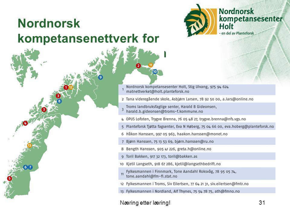 Nordnorsk kompetansenettverk for småskala matproduksjon