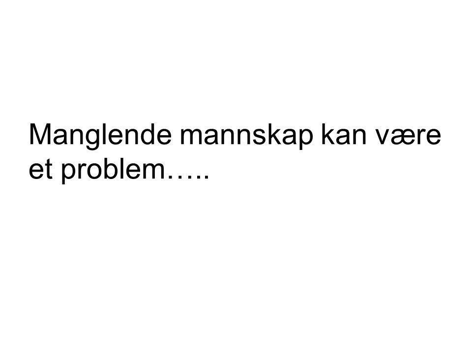 Manglende mannskap kan være et problem…..