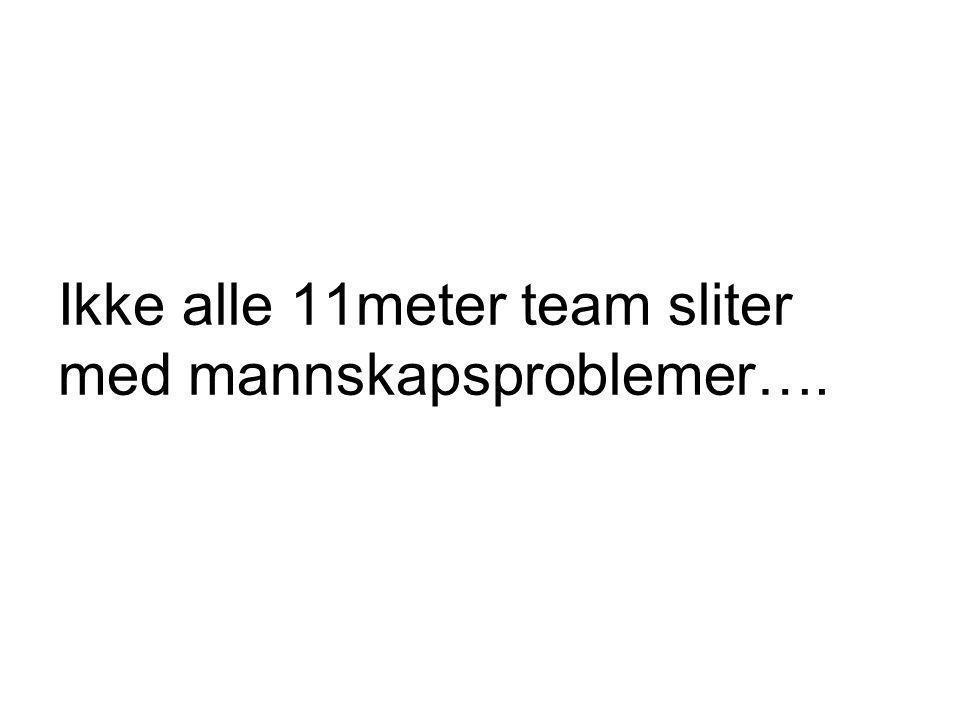 Ikke alle 11meter team sliter med mannskapsproblemer….