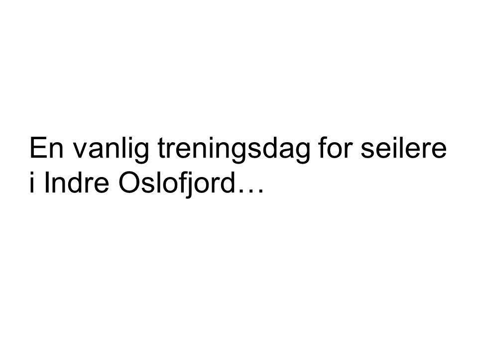 En vanlig treningsdag for seilere i Indre Oslofjord…
