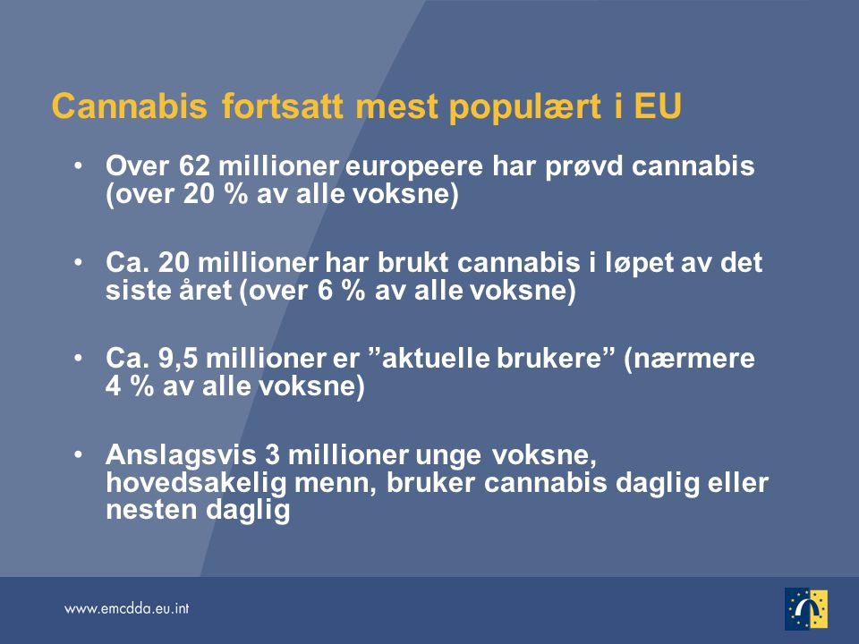 Cannabis fortsatt mest populært i EU