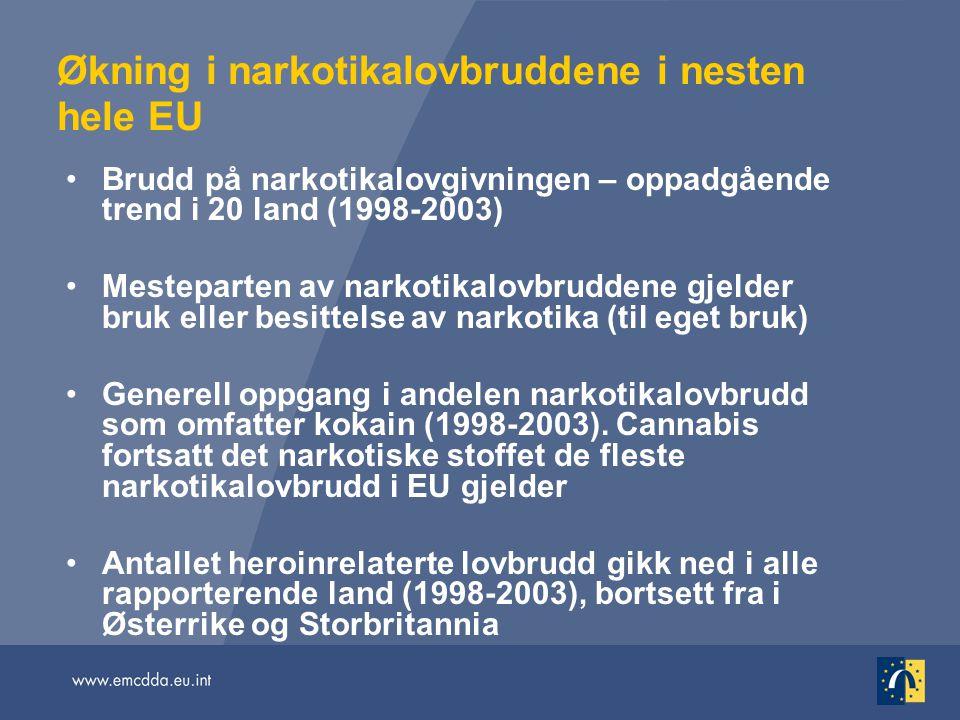Økning i narkotikalovbruddene i nesten hele EU