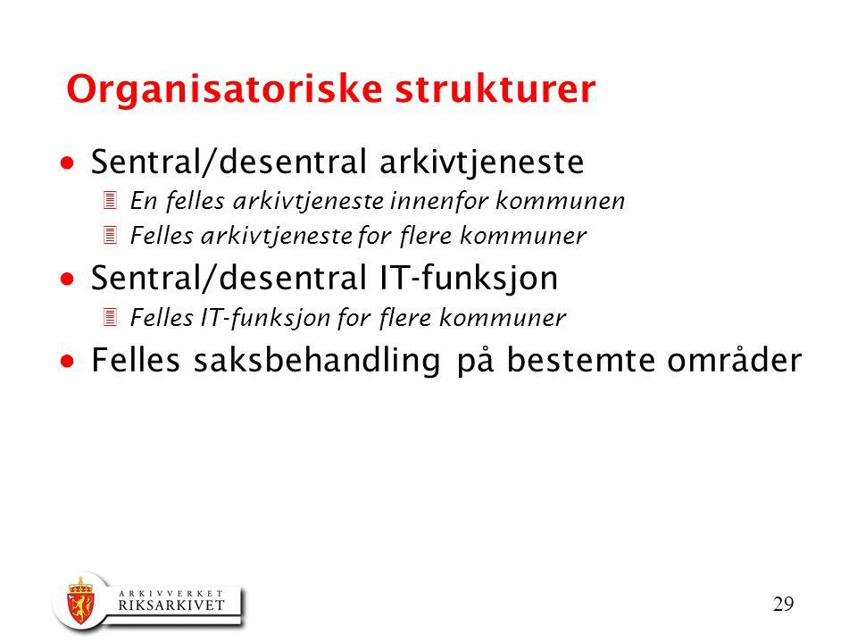 Organisatoriske strukturer