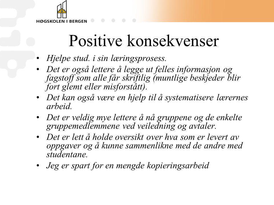 Positive konsekvenser