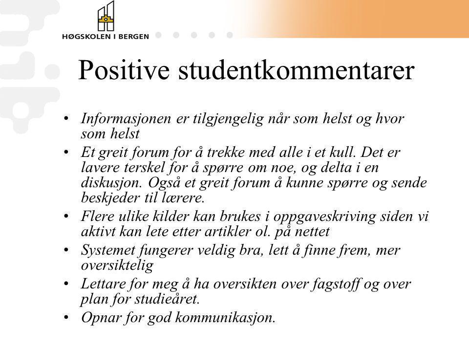 Positive studentkommentarer