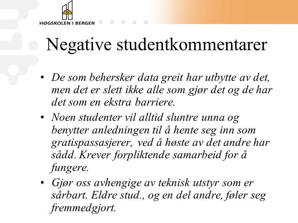 Negative studentkommentarer