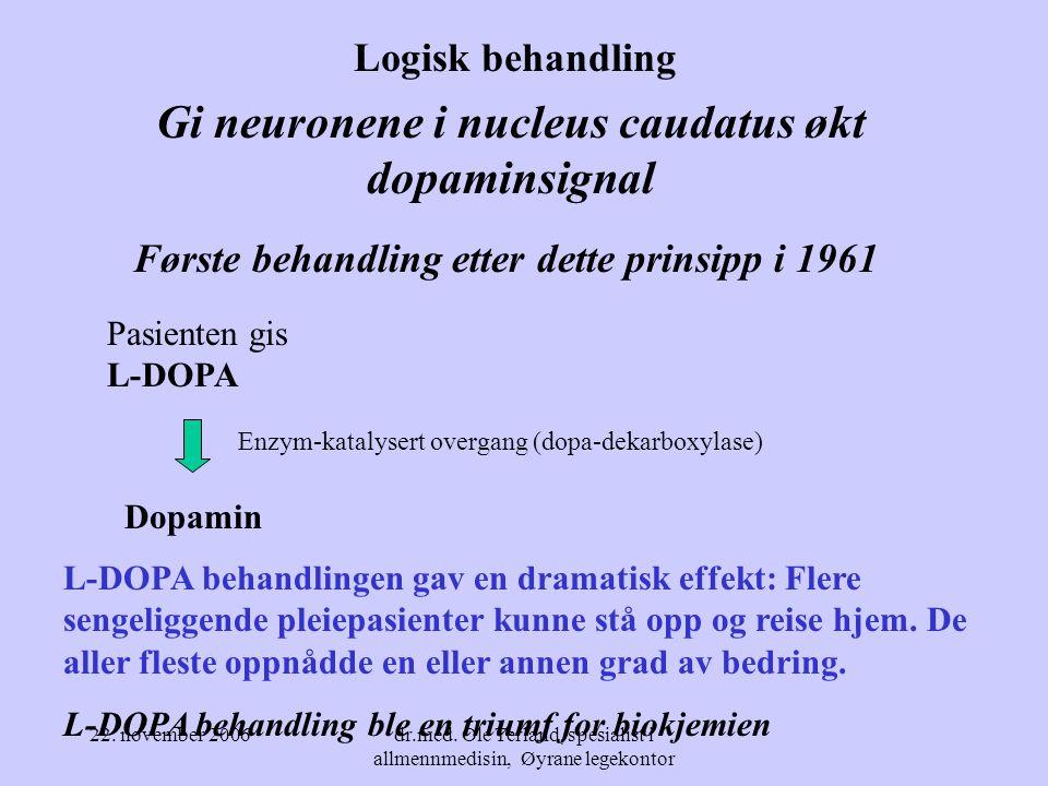 Gi neuronene i nucleus caudatus økt dopaminsignal