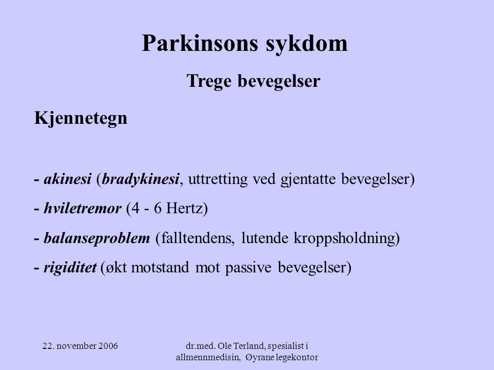 dr.med. Ole Terland, spesialist i allmennmedisin, Øyrane legekontor