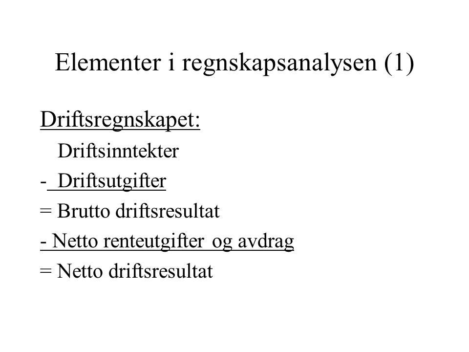 Elementer i regnskapsanalysen (1)