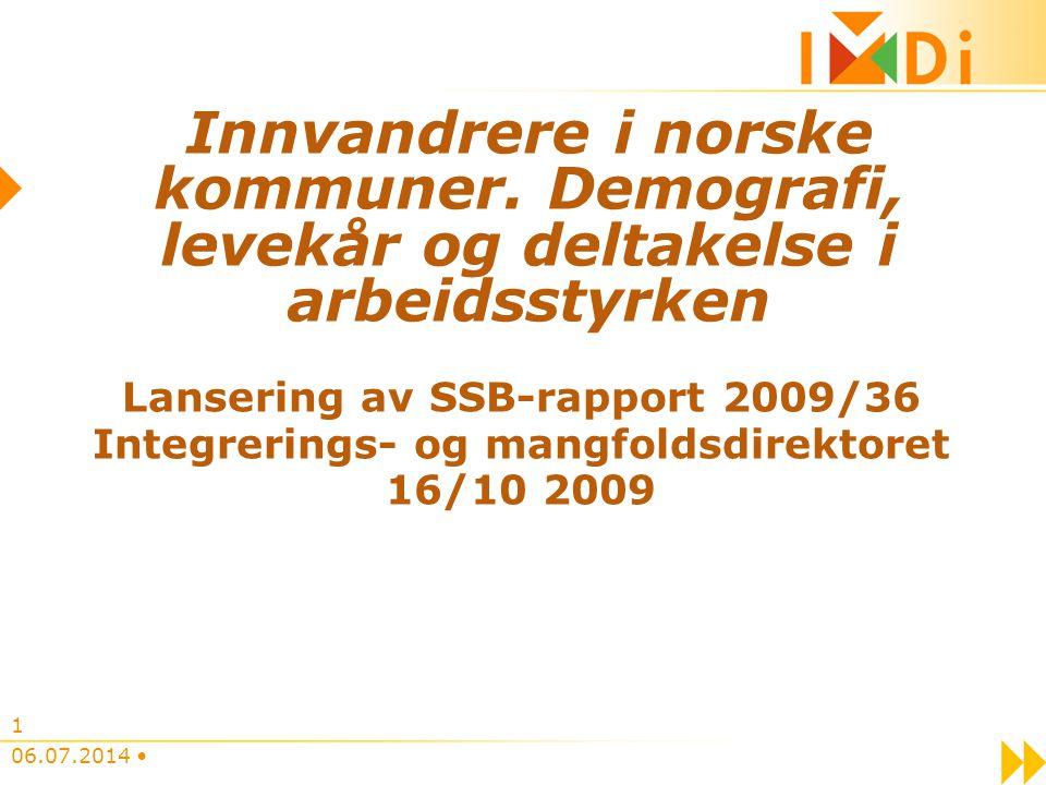 Lansering av SSB-rapport 2009/36 Integrerings- og mangfoldsdirektoret