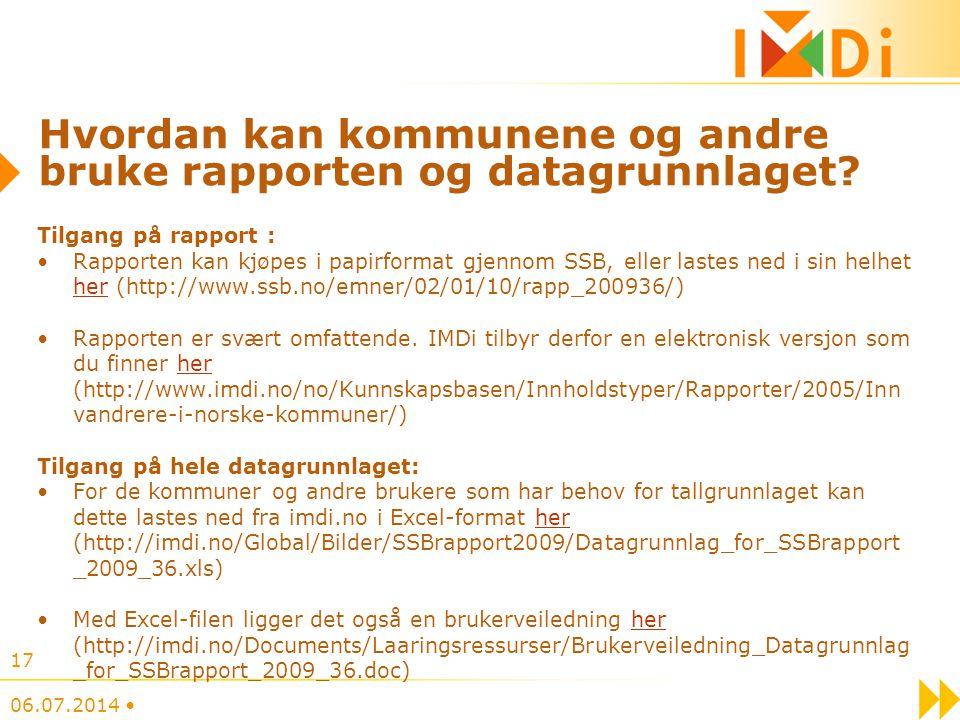 Hvordan kan kommunene og andre bruke rapporten og datagrunnlaget