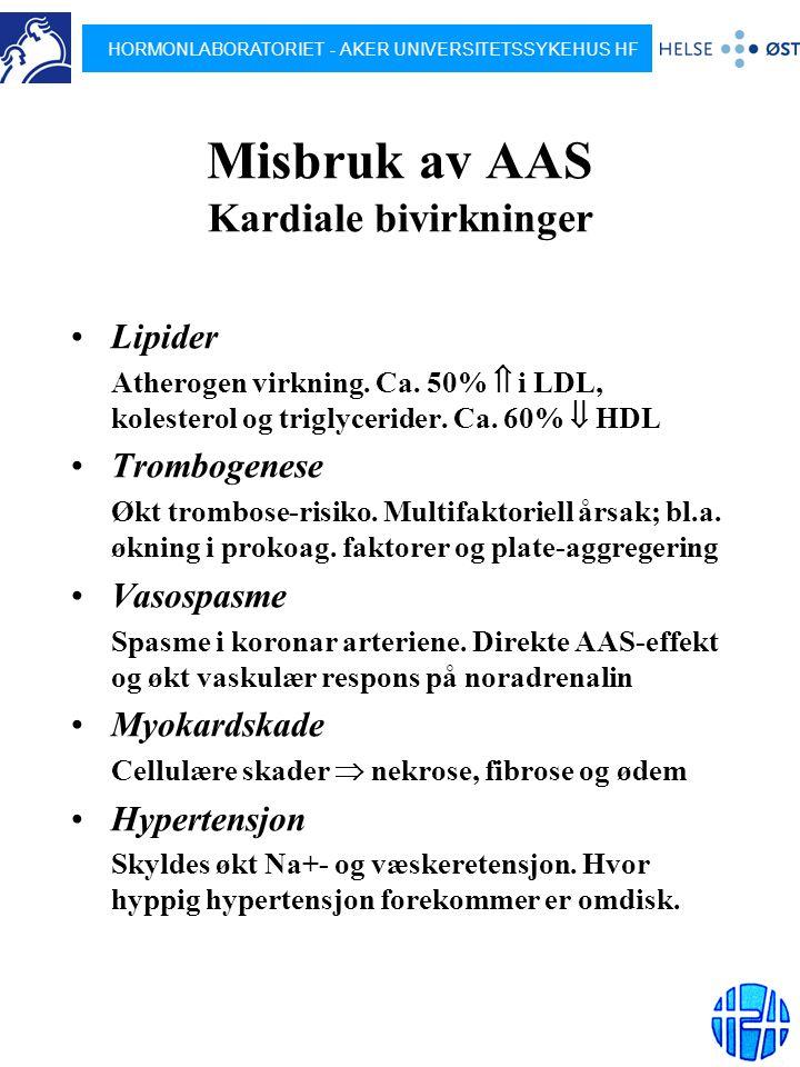Misbruk av AAS Kardiale bivirkninger