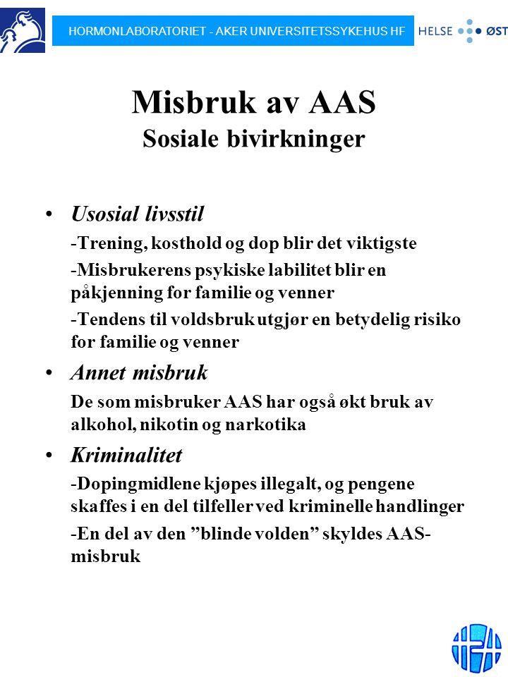 Misbruk av AAS Sosiale bivirkninger