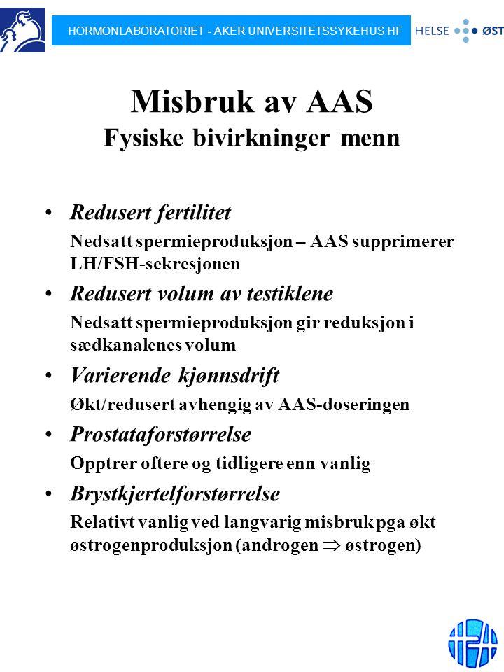 Misbruk av AAS Dokumentasjon av bivirkninger - ppt laste ned