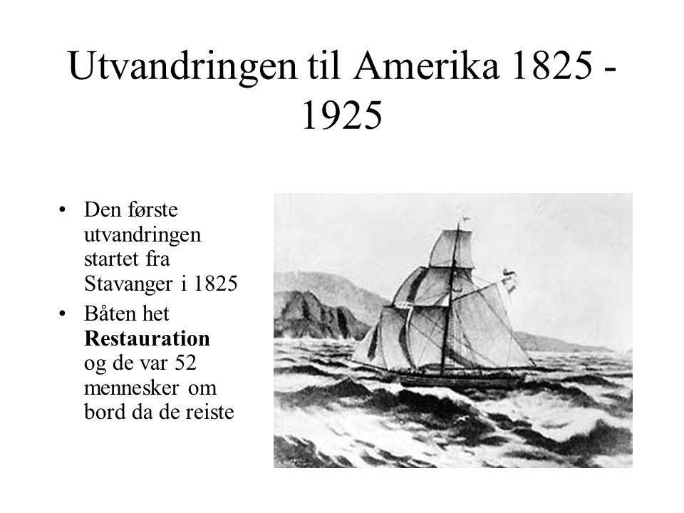 Utvandringen til Amerika 1825 - 1925