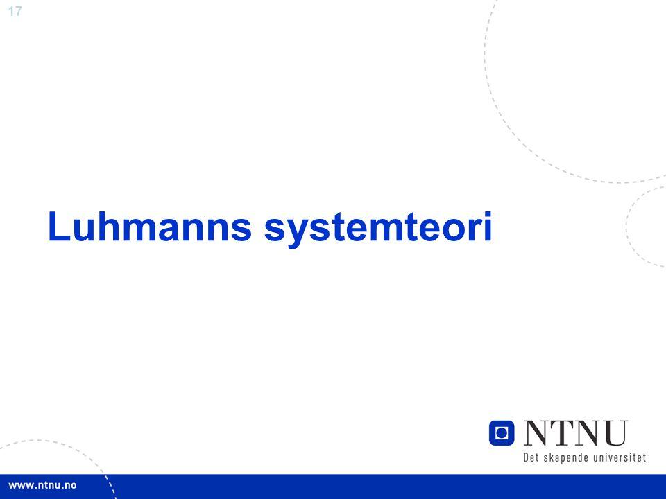 Luhmanns systemteori