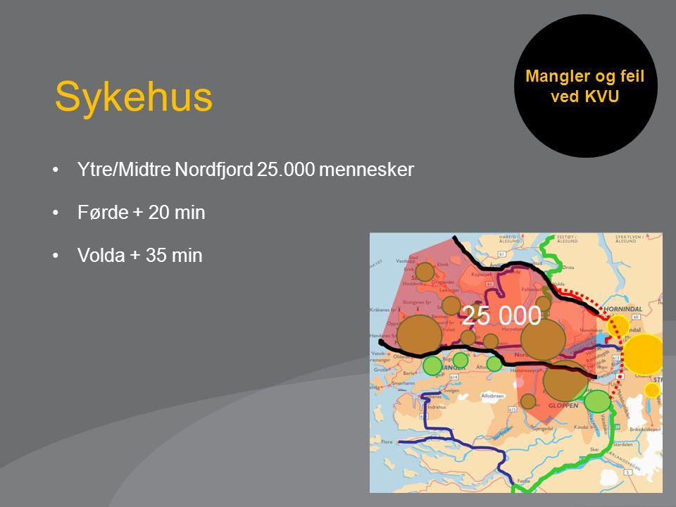 Sykehus Ytre/Midtre Nordfjord 25.000 mennesker Førde + 20 min