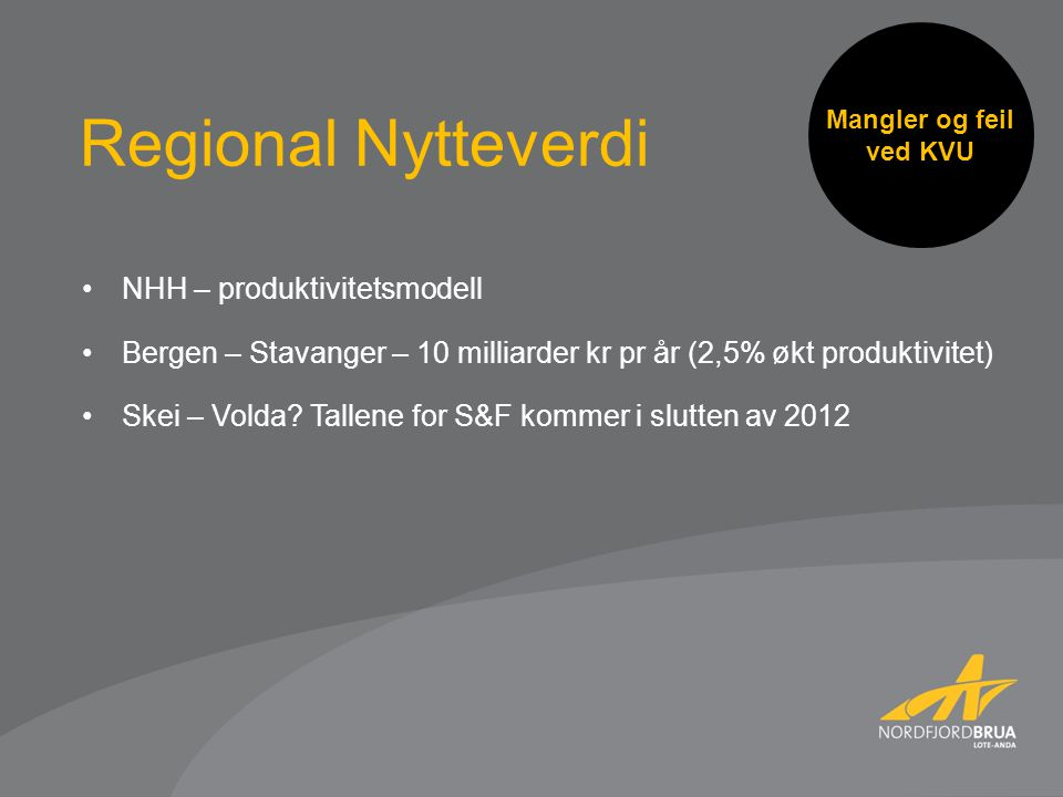 Regional Nytteverdi NHH – produktivitetsmodell