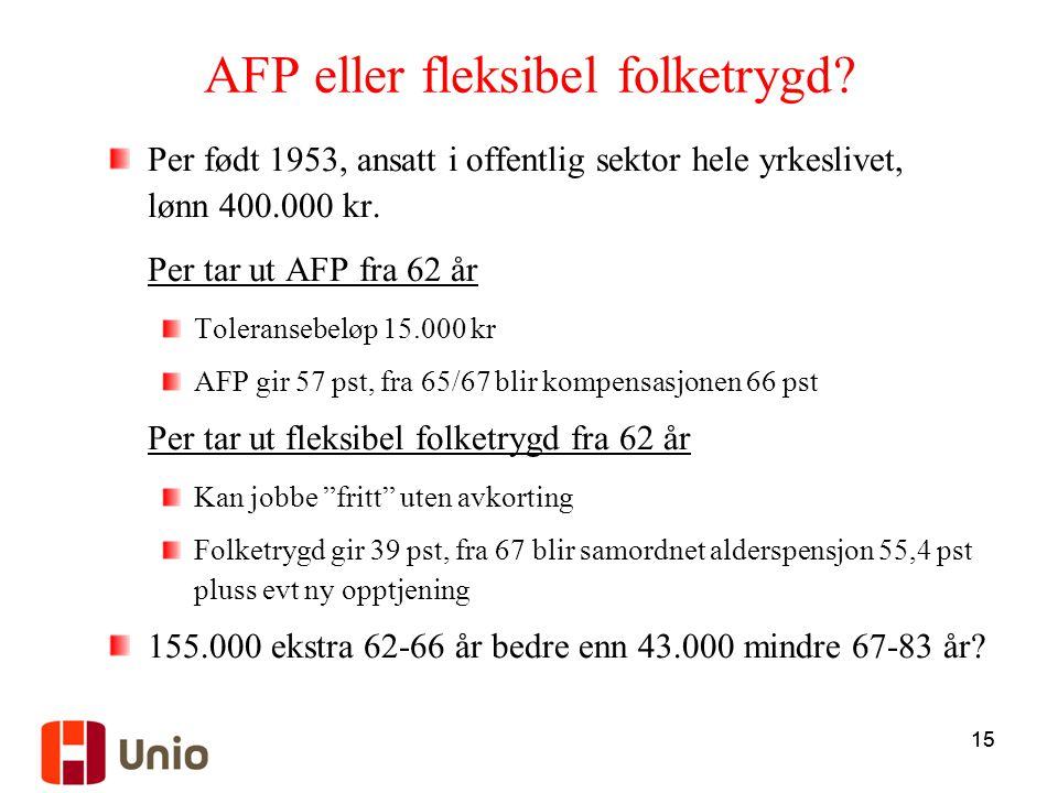 AFP eller fleksibel folketrygd