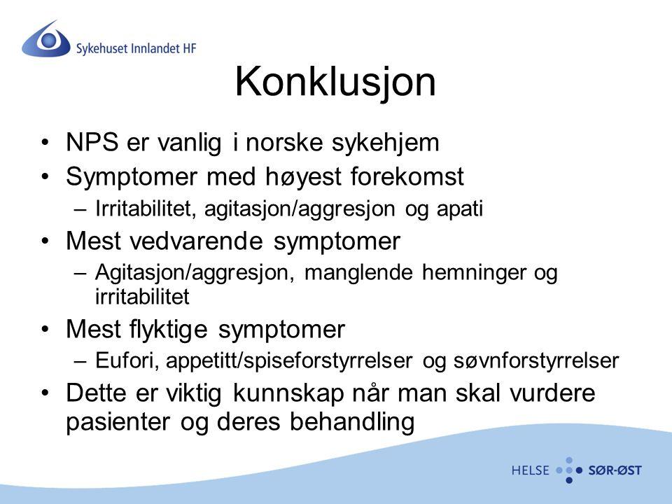 Konklusjon NPS er vanlig i norske sykehjem
