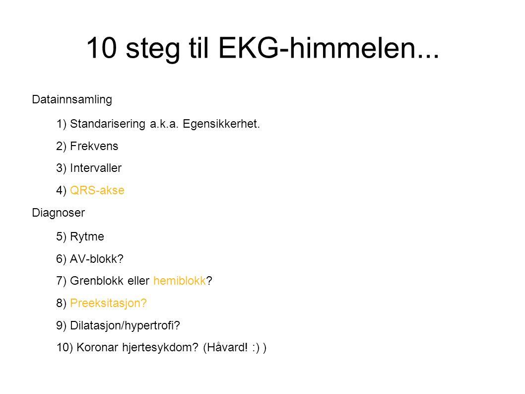 10 steg til EKG-himmelen... Noen som kjenner til algoritmen fra før
