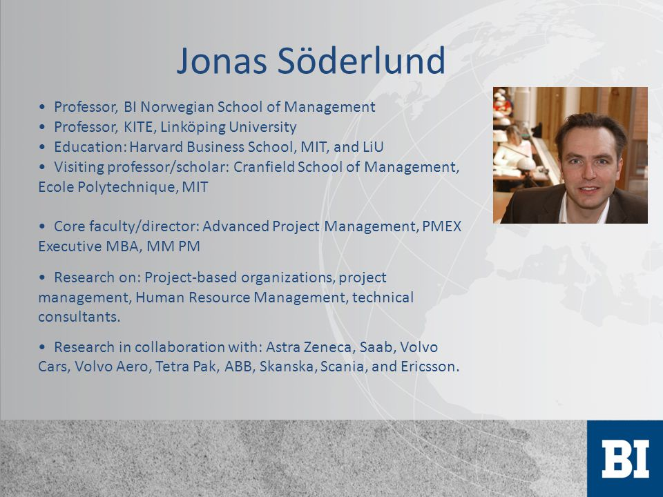 Jonas Söderlund Professor, BI Norwegian School of Management