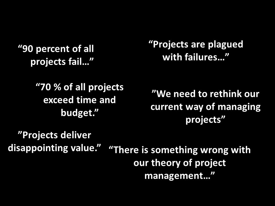 Projects are plagued with failures…