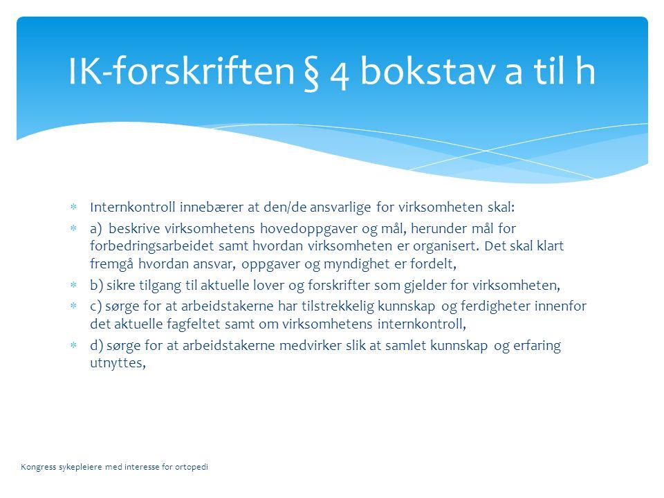 IK-forskriften § 4 bokstav a til h