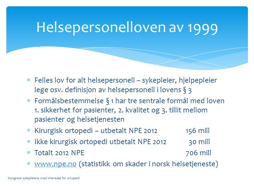 Helsepersonelloven av 1999