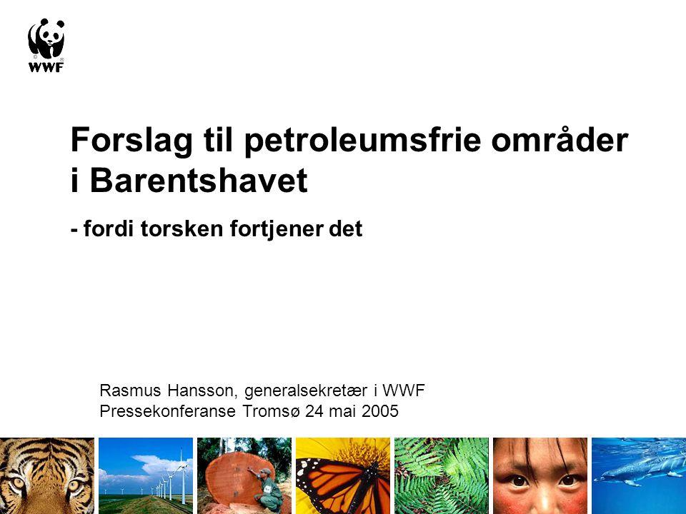 Forslag til petroleumsfrie områder i Barentshavet