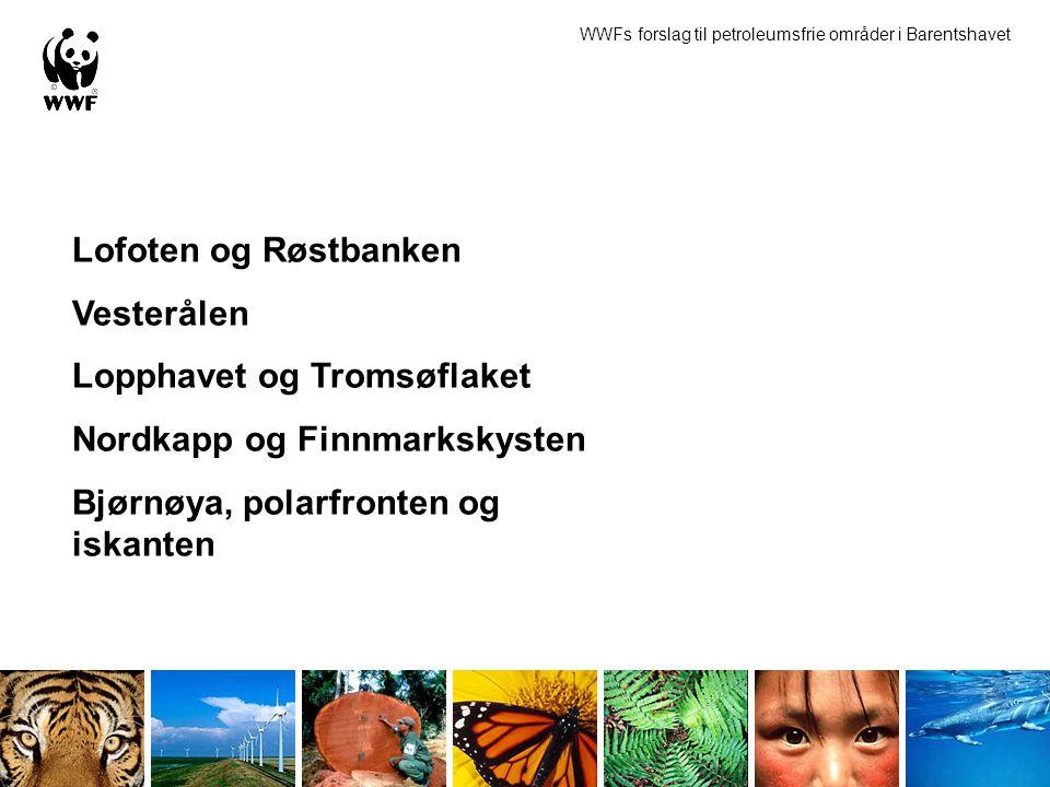 Lopphavet og Tromsøflaket Nordkapp og Finnmarkskysten