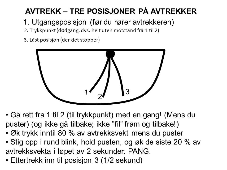 AVTREKK – TRE POSISJONER PÅ AVTREKKER