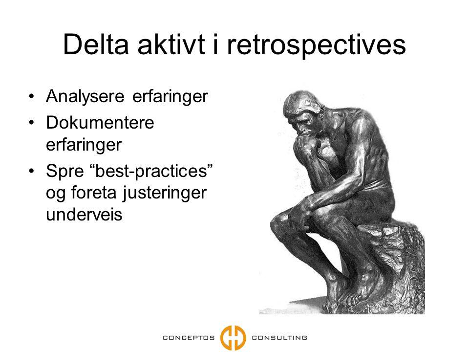 Delta aktivt i retrospectives