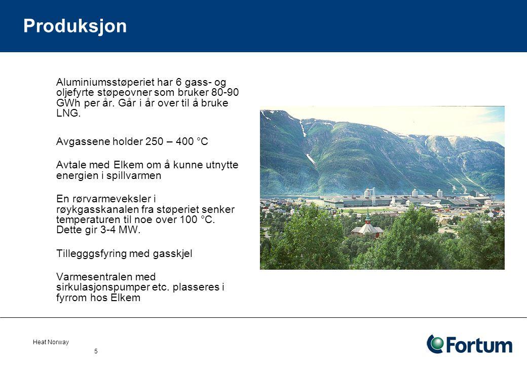 Produksjon Aluminiumsstøperiet har 6 gass- og oljefyrte støpeovner som bruker 80-90 GWh per år. Går i år over til å bruke LNG.