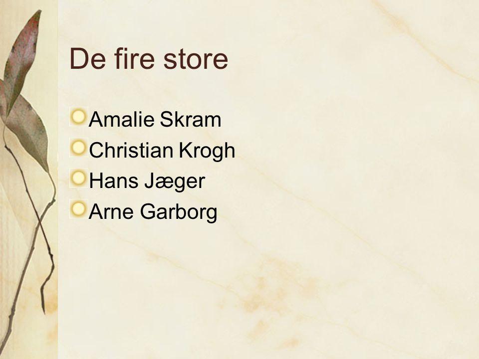 De fire store Amalie Skram Christian Krogh Hans Jæger Arne Garborg