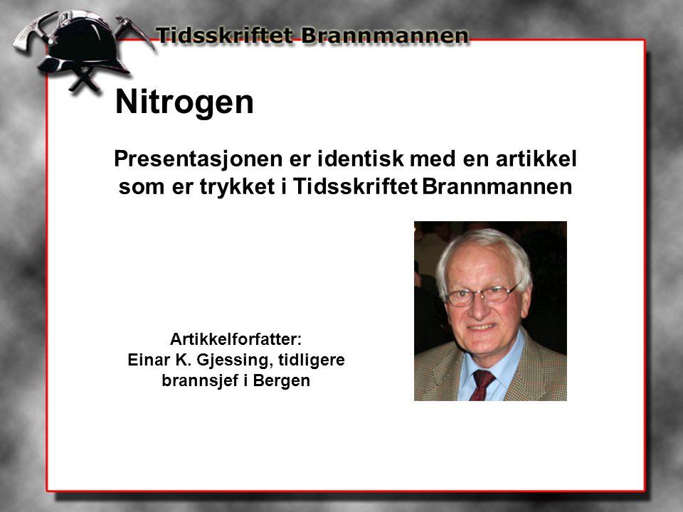 Einar K. Gjessing, tidligere brannsjef i Bergen