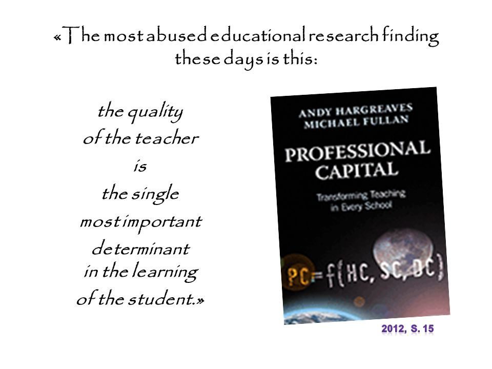 «The most abused educational research finding these days is this: