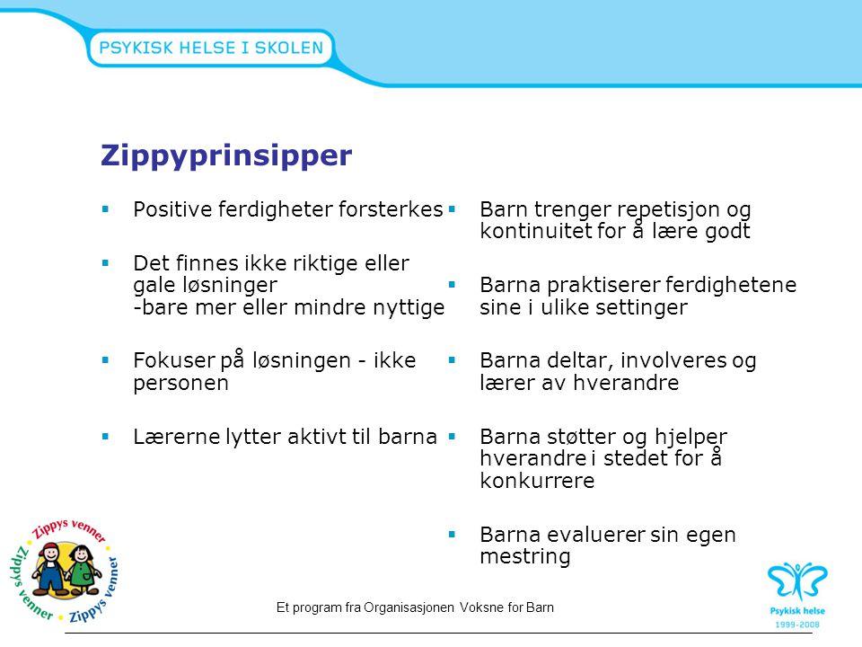 Zippyprinsipper Positive ferdigheter forsterkes