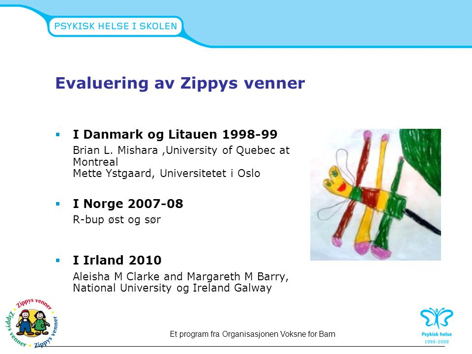 Evaluering av Zippys venner