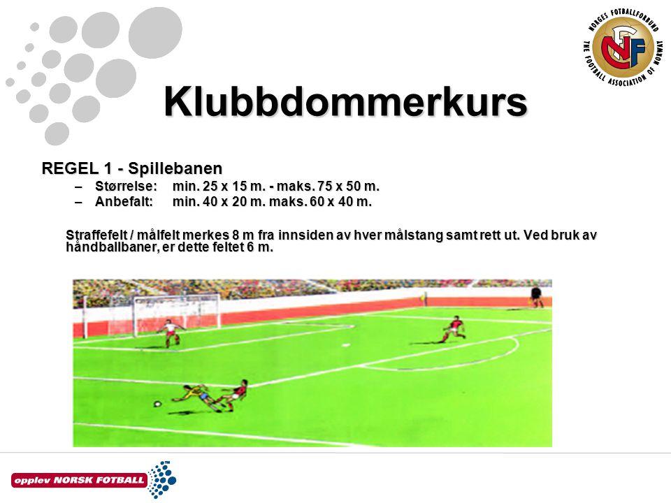 Klubbdommerkurs REGEL 1 - Spillebanen