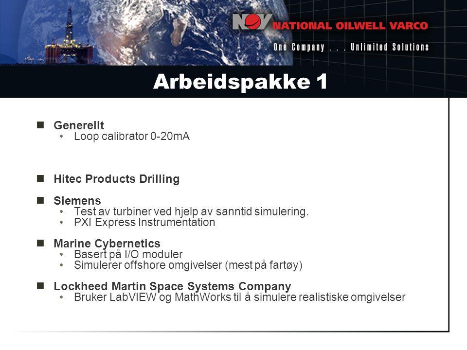 Arbeidspakke 1 Generellt Hitec Products Drilling Siemens