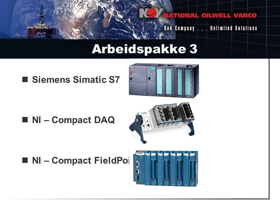 Arbeidspakke 3 Siemens Simatic S7 NI – Compact DAQ