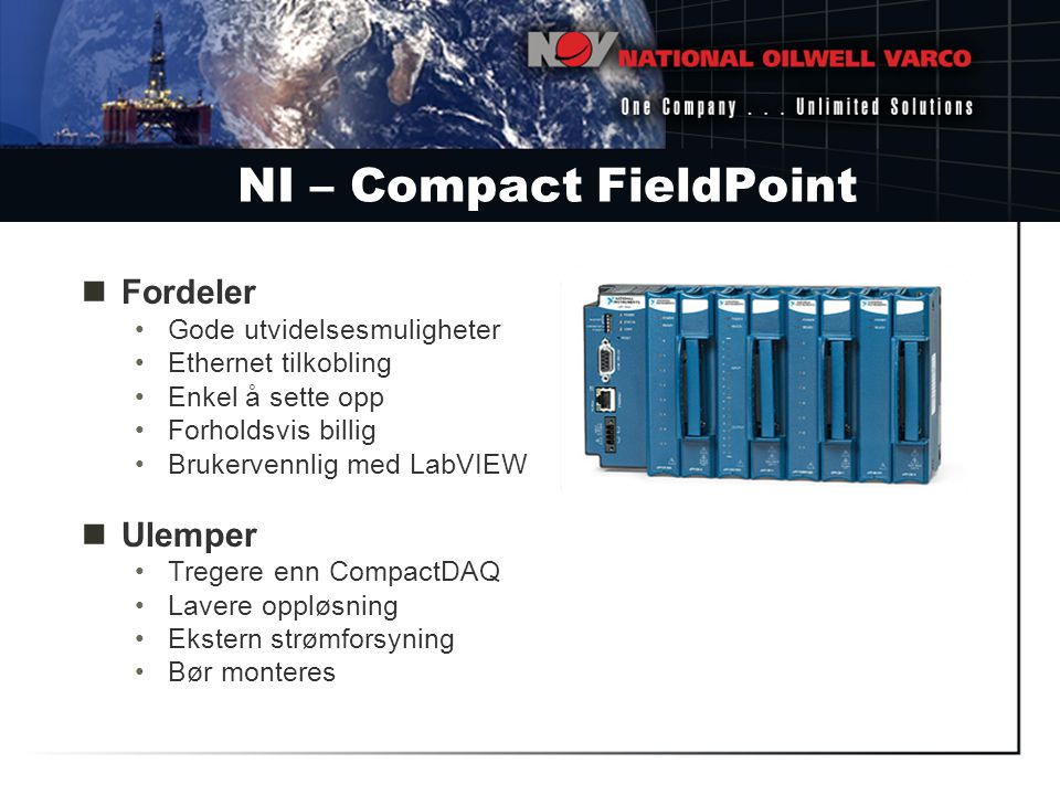 NI – Compact FieldPoint
