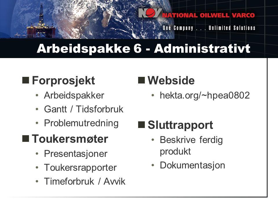 Arbeidspakke 6 - Administrativt
