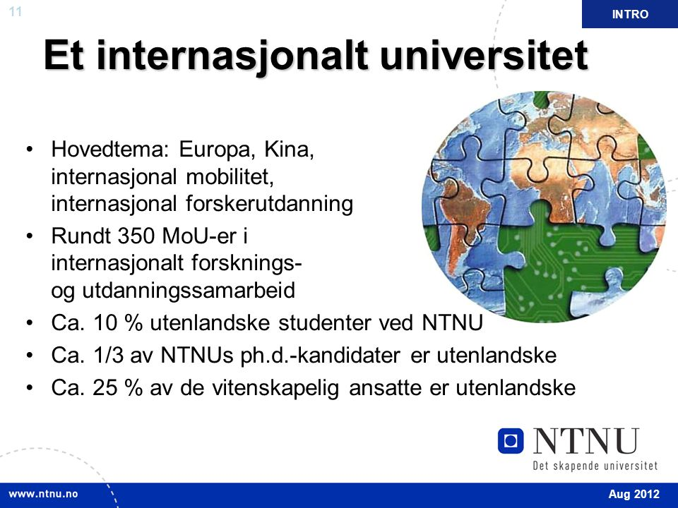 Et internasjonalt universitet