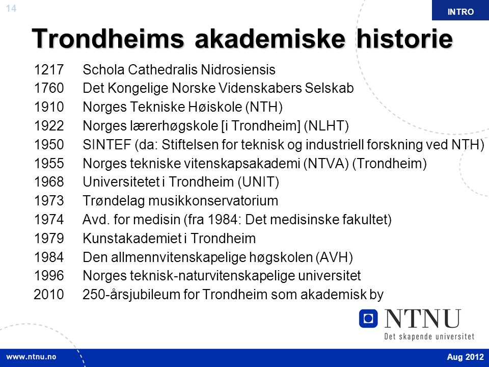 Trondheims akademiske historie